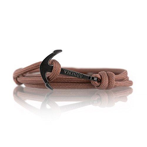Anker Armband Nylon Modeschmuck Maritim Unisex :: Ankerfarbe: Schwarz :: (Hot Chocolate) (Hot Modeschmuck Designer)
