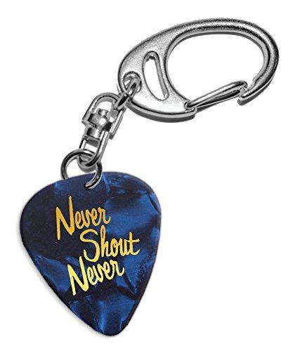 never-shout-never-pua-de-guitarra-llavero-keyring-blue-pearl-ghf-