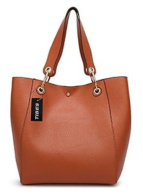 Tibes fashion faux sac à main en cuir grand sac fourre-tout sac à main pour les femmes