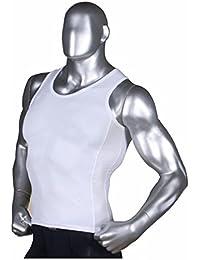 3548cf894d48df Henri maurice Mens Tank Top Gym Compression Undershirt Under Base Layer  Underwear Mesh Aqua QR