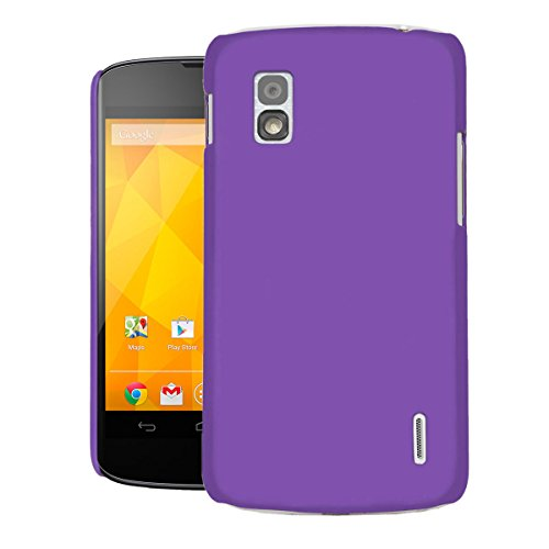 Spider Thin Fit Case for Nexus 4 Back Cover Sleek Rubberised Matte Hard Case Back Cover For Nexus 4 (Purple)  available at amazon for Rs.170
