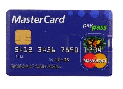 Fenglangrong - chiave usb a forma di carta di credito (16 gb), usb 2.0,flash drive mastercard