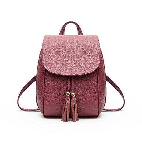 Mefly La nuova tendenza della moda Borsa da viaggio Borsa fiocco Claret Pink