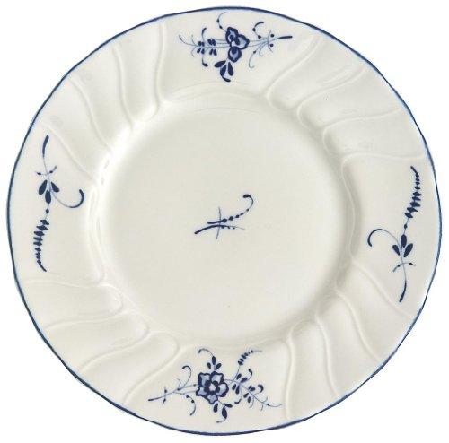 Villeroy & Boch Vieux Luxembourg Brotteller, 16 cm, Premium Porzellan, Weiß/Blau