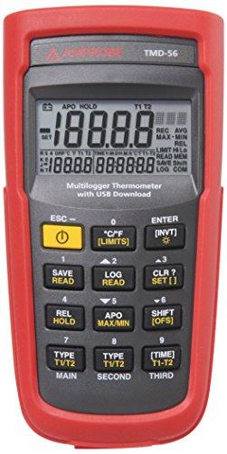 Preisvergleich Produktbild AMPROBE tmd-56Digitales Thermometer mit 0,05% Basic Genauigkeit, multi-logging