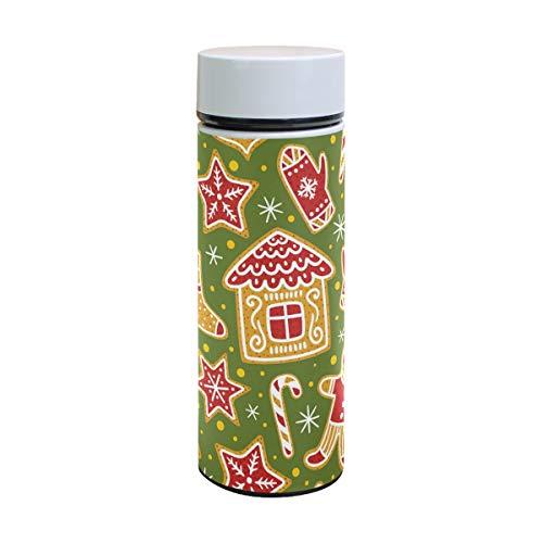 (Thermoskanne mit Weihnachtsmotiv aus Edelstahl, isoliert, für Kinder, Thermoskanne, Thermosbecher, 350 ml)