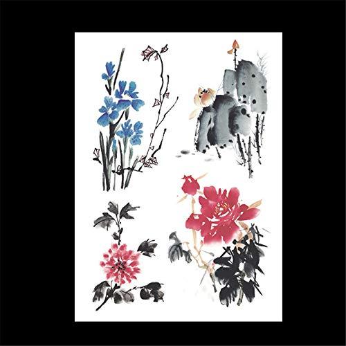 zgmtj wasserdichte Tätowierungsaufkleber des Blumenarms Halloween-Tätowierungsaufkleber HB-663 148 * 210MM