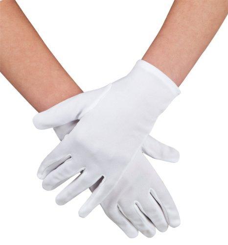 weiße Handschuhe Gr. 9 Weihnachtsmann, Clown o.ä.