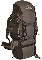 Highland Discover Adventure Travel Rucksack Back Pack Backpack + Cover 45L 65L 85L Black
