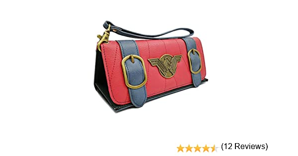Portefeuille Femme Compatible pour Wonder Woman Triple pli Bracelet Embrayage Carte de Cr/édit Porte-monnaie de Support