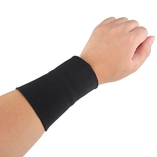 bewish Wartung Unterarm Tattoo Cover Up Ärmel Schutz Oberschenkel Kompression Handgelenk Arm Band für Damen Herren Schwarz (Cover-up-tattoo-ärmel)