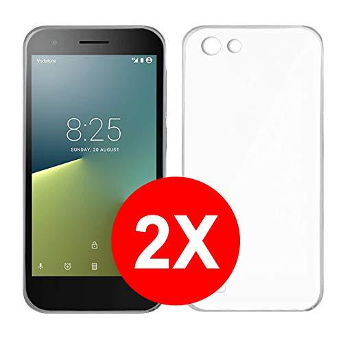 TBOC 2X Transparent Gel TPU Hülle für Vodafone Smart E8 (5.0 Zoll) [Pack: Zwei Einheiten] Ultradünn Flexibel Silikonhülle