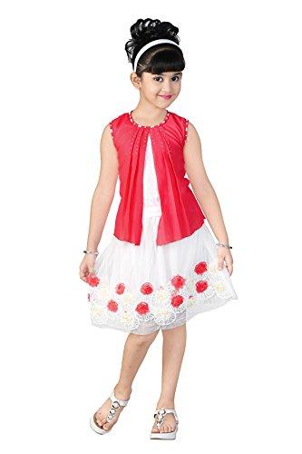Golden Girl Baby Girl's Brasso & Net Top and Skirt set (pink, 12-18 Months)