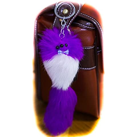 3 2 FOR! Big Designer Fur Keyring