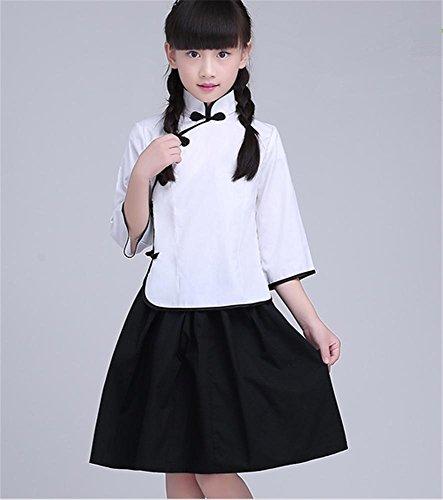 Kinder / Mädchen Chor Kostüm Anzug / Bühne Tanz Leistung / Chinesisch Student , 165 , white