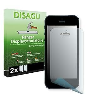 2 x DISAGU Film blindé film de protection d'écran pour Apple iPhone 5s / Apple iPhone SE film de protection contre la casse
