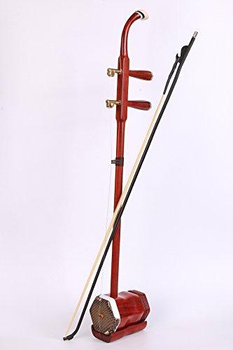 Profesional yunzhi Rojo Palisandro Erhu chino 2-string Violín Violín Instrumento Musical Incluye accesorios