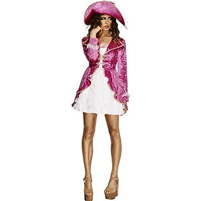 Smiffys Déguisement Femme Pirate, Robe, Jupe et Chapeau, Pirates, Fever, Couleur: Rose, 30731