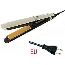 LITTHING Rizador y Enderezador plancha de pelo de uso doble contrachapado Plug eléctrica LED pantalla de