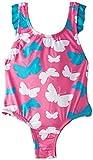 Hatley Ruffle Trim One Piece Bathing Suit – Graphic Butterflies – Maillot une pièce – Fille