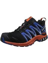 Salomon Herren Xa Pro 3d Gtx Traillaufschuhe, Mehrfarbig (Black/Flame/Nautical Blue), 40 2/3 EU