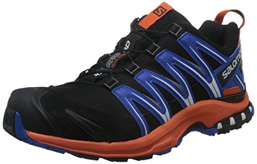 Salomon XA Pro 3D, Chaussures de randonnée homme Multicolore (Black/flame/nautical Blue)