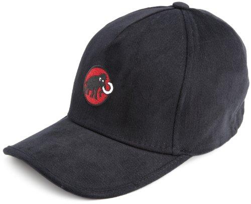 Mammut adulte casquette de baseball Noir - Noir/rouge
