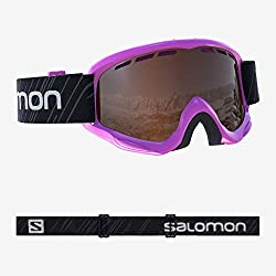 Salomon, Juke Access, Masque de ski pour enfants (6-12 ans), Rose / Universal Tonic Orange, L39137500
