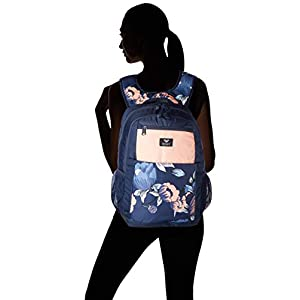41iwr3VXYPL. SS300  - Roxy Here You Are Fitness Backpack, Mujer, Dress Blues Full Flowers fit, 1SZ