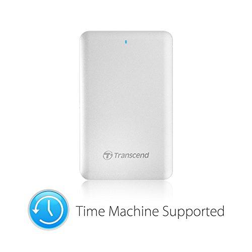 Transcend TS2TSJM300 2TB Externe Festplatte (für Apple Mac USB 3.0 / Thunderbolt) silber-metallic