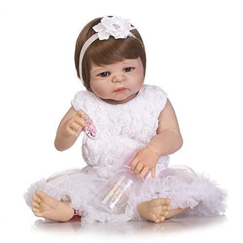 en Menina NPK Baby Reborn Dolls 57 cm Körper Vollsilikon Victoria New Born Baby Girl Princess Doll Spielzeuggeschenk Bonecas ()