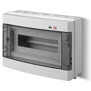 Sicherungskasten Kleinverteiler IP40 Aufputz 13 Module 1-reihig inkl. Hutschiene und PE-/N-Klemmen Control LUX-PLUS
