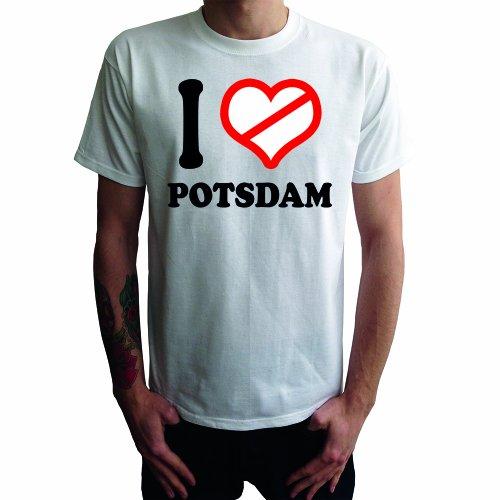 I don't love Potsdam Herren T-Shirt Weiß
