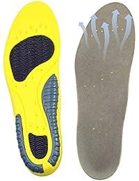 Plantillas GEL Sports Orthotic HUOU Plantillas para Zapatos de Gel Cuttable Insoles para la amortiguación para tallas 41-45
