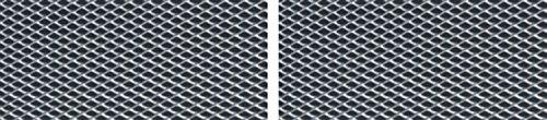 Alu-métal déployé, 2 pièces, argent, chaque 625 x 200 mm