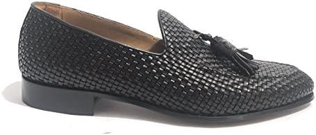 BEN.TER (scarpe artigianali) Mocasines de Piel Para Hombre Negro Ebano