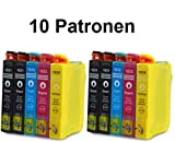 10 Tintenpatronen in XL FÜLLMENGE für WorkForce WF-2010 W, WF-2510 WF, WF-2520 NF, WF-2530 WF, WF-2540 WF, WF-2630 WF, WF-2650 DWF, WF-2660 DWF, WF-2750 DWF, WF-2760 DWF