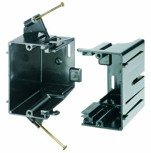 Arlington FEN102 Expandable Outlet Box, Nail-on for New Construction, 2-Gang, 10-Pack by Arlington Industries
