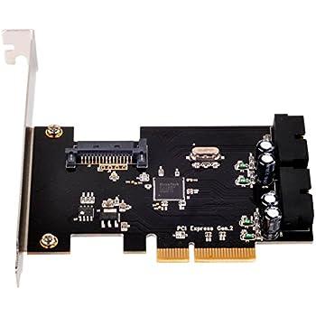 SilverStone SST-ECU01 - SuperSpeed 2x carte PCI-E Express interne USB 3.0 Gen 2.0 x2, 10Gbps, support profile bas