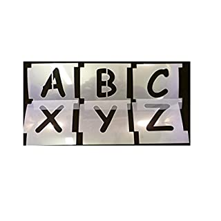 35mm Professional Interlocking Stencil Kit. COMIC SANS Font, Upper Case. Made from 125micron Mylar Polyester