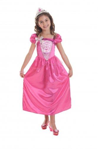 Imagen de amscan  disfraz de princesa para niña, talla 3  5 años ca14130v3  s