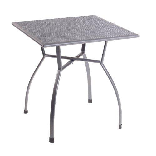 greemotion Tisch Toulouse eisengrau, quadratischer Gartentisch aus kunststoffummanteltem Stahl,...
