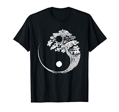 Yin Yang Bonsai Baum Japan Buddha Zen Meditation Geschenk T-Shirt