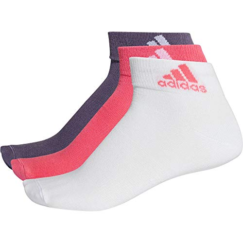 adidas Erwachsene Performance Ankle 3 Pair Pack Socken, Real Pink/White/Trace Purple, EU 43-46