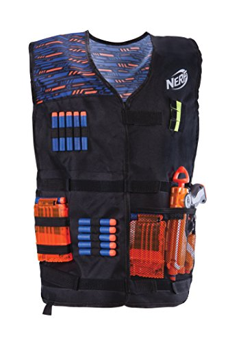 Jazwares 11517 Nerf - Elite Weste, Blue and Orange