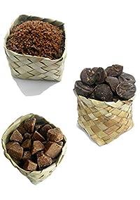 Udankudi Natural Palm Jaggery, Palm Sugar & Sillu Karupatti Combo - 150gm + 150gm + 150gm   Karupatti   Panakarkandu   Sillu Karupatti