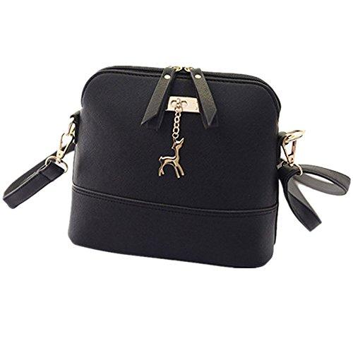 Handtasche Umhängetaschen für damen-Damenhandtaschen groß Leder Damen ,YULAND Mode Neue Klassische Handtasche-Damen Deer Metall Ornamente Muscheln Handtasche (C) (Millennium-leder-handtasche)