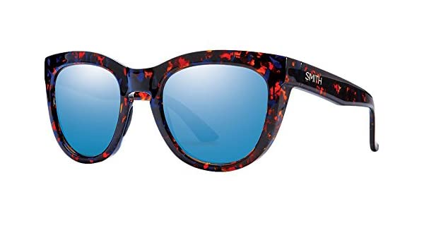 Smith Sidney Sonnenbrille Damen Red Yellow Tortoise/Brown Gradient Bunt Flecked Blue Tortoise/Blue Flash 52 mm IDhTPeJWdN