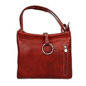 Damen tasche handtasche ledertasche damen ledertasche schultertasche leder tasche henkeltasche umhängetasche made in italy rot