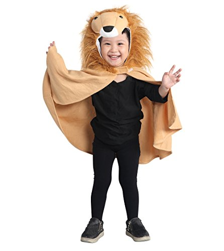 Löwen-Kostüm, An77 Gr. 74-98, als Umhang für Klein-Kinder und Babies, Löwen-Kostüme Fasching Karneval Fasnacht, Karnevalskostüme, Kinder-Faschingskostüme, Geburtstags-Geschenk Weihnachts-Geschenk (Für Baby-kostüm Ideen Jungen)